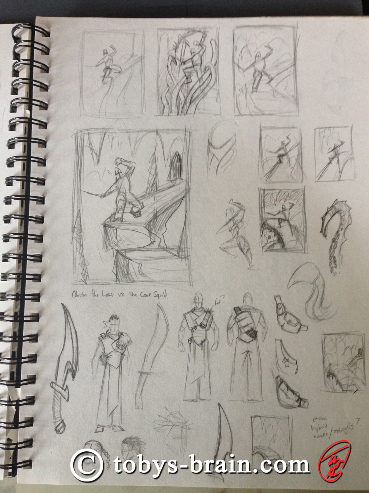 Toby-Gray-ohrim-vs-cave-squid-sketch-1