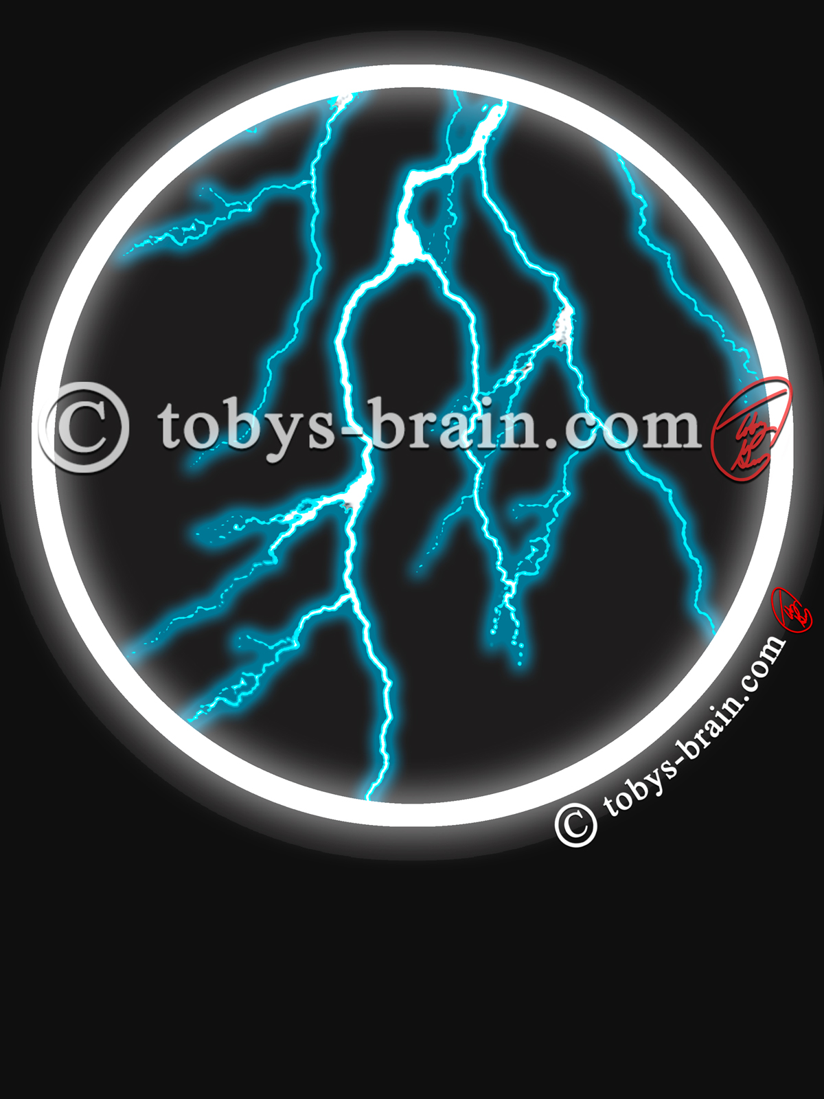 Toby-Gray-black-white-circle-blue-lightning-shirt-design