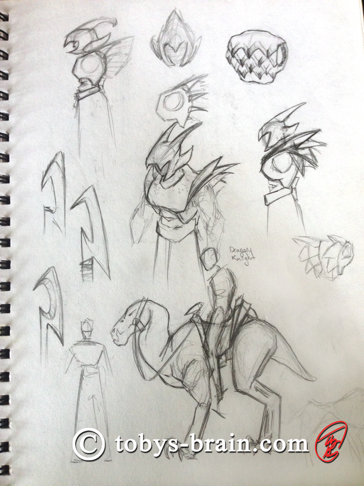 Toby-Gray-dragon-rider-sketch-1