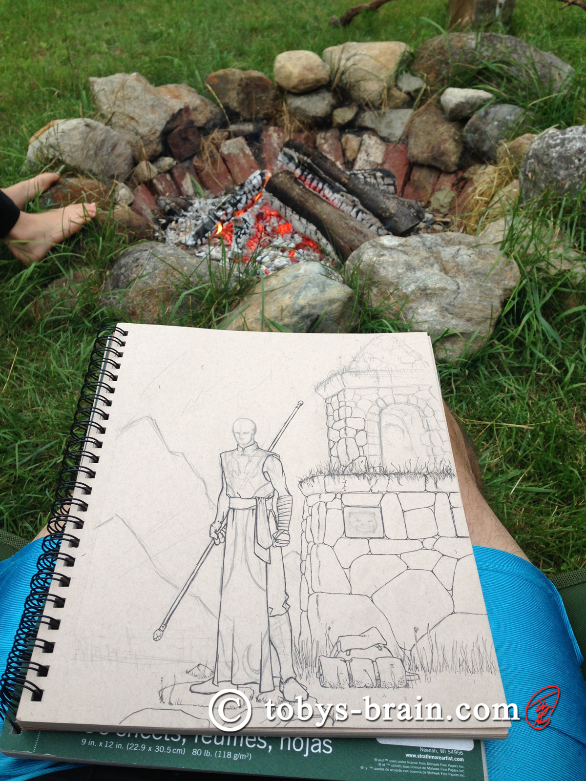 Toby-Gray-dragon-monk-drawing-by-the-fire