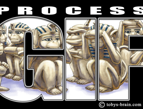 Process GIF: 8 Brass Monkeys