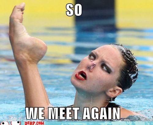 syncro swimmer face