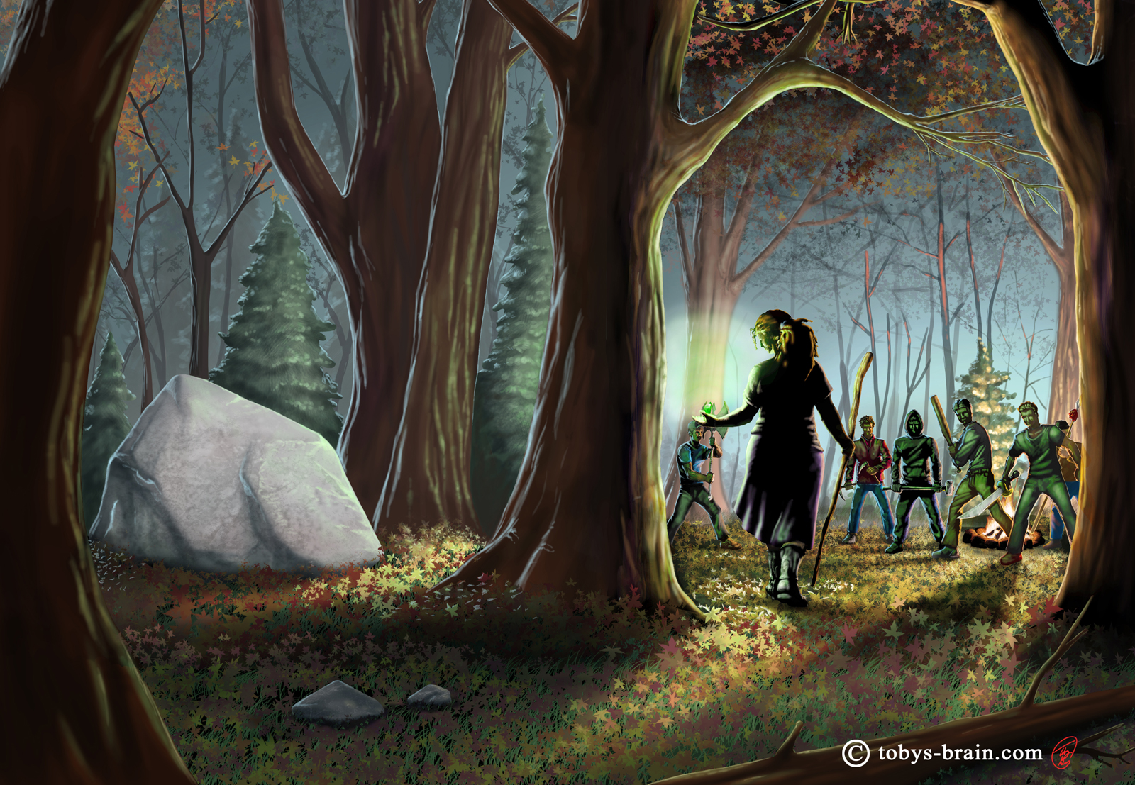 Expanded, reworked cover I did for L.S. Gagnon's first book in her Witch Series.