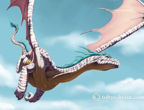 Tablet Art: Teal-Crested Leopard Dragon
