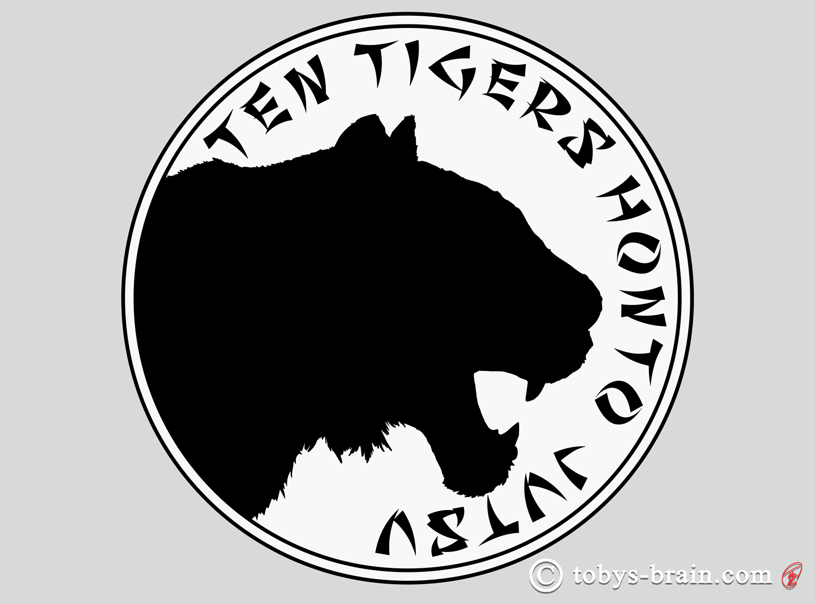 I thought the tiger profile would work great as a silhouette, especially for printing on shirts. One color printing is much cheaper than even two color. Plus, it's kind of reminiscent of the Thunder Cats, and who doesn't love the Thunder Cats?
