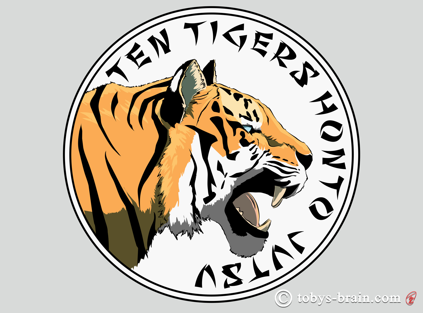 The Ten Tigers name was just begging for a tiger-related alternative logo, so I came up with a few.
