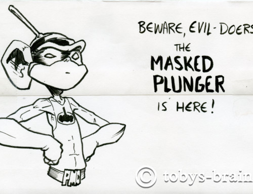 PMD Xmas Card Envelopes 2019: The Masked Plunger