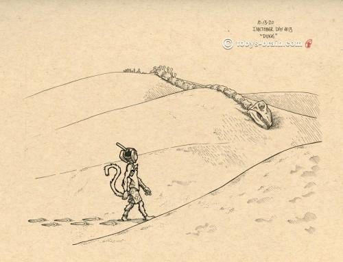 Inktober 2020 PMD: Dune