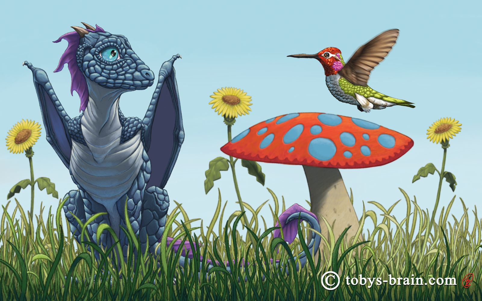 Dragon and Humming Bird