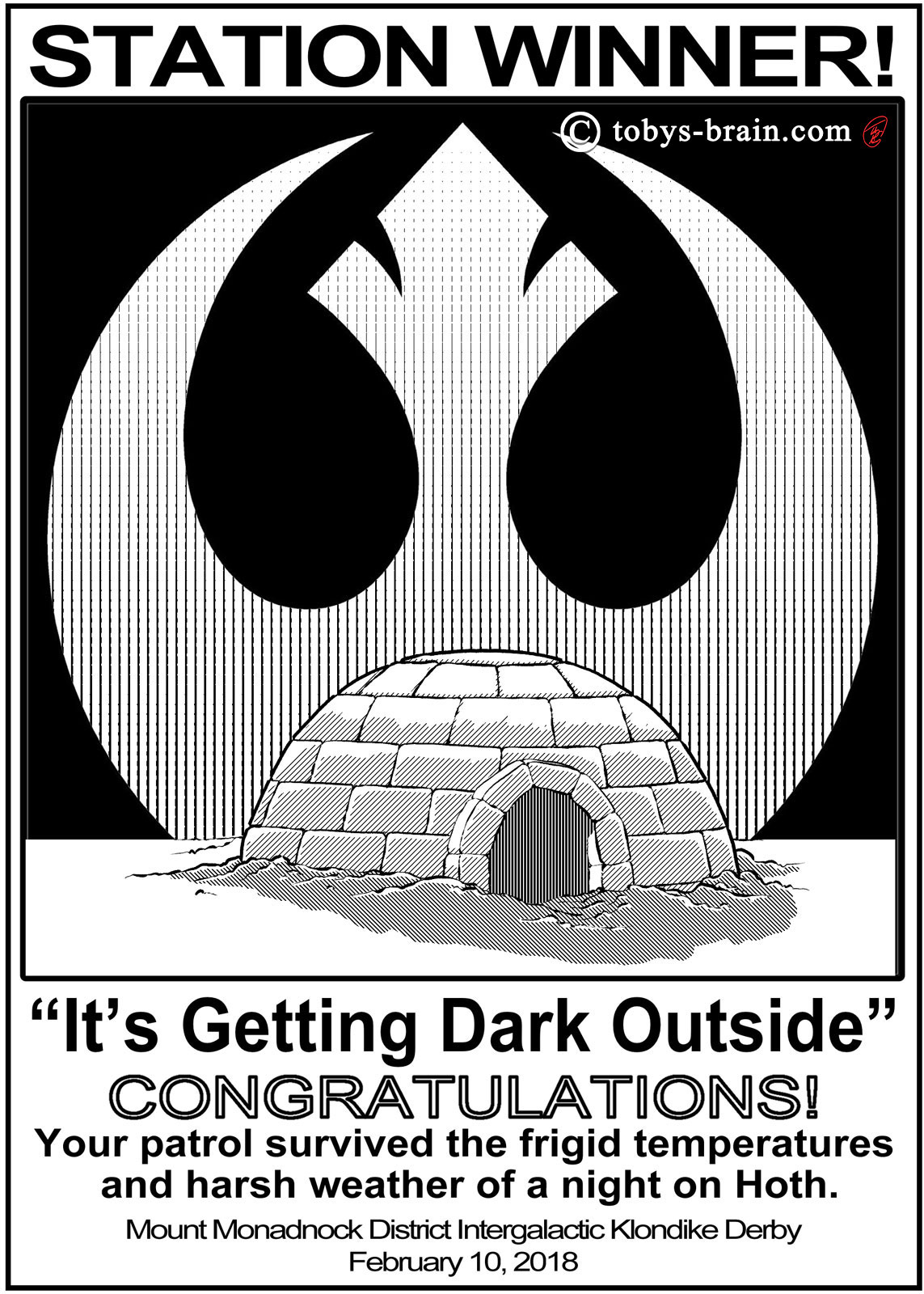 Star Wars Klondike Awards: Shelter Building