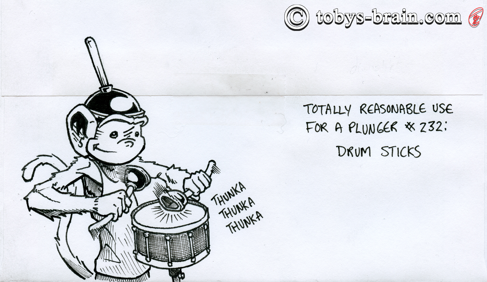 PMD Xmas Card Envelopes 2020: Plunger Drum Sticks